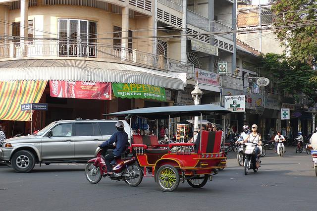 Le moyen de transport le plus courant à Siem Reaptajai
