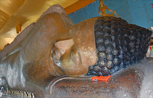Phnom Kulen National Park - Bouddha couché à Phnom Kulen