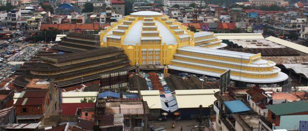 Le marché central de Phnom Penh au Cambodge