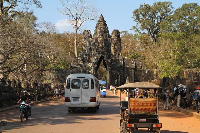 Angkor Thom, la vaste ville royale.